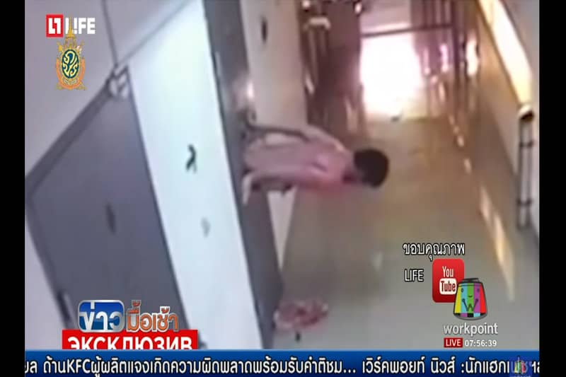 タイの刑務所のドアに設置された監視窓から脱獄中の囚人の姿がヤバイ