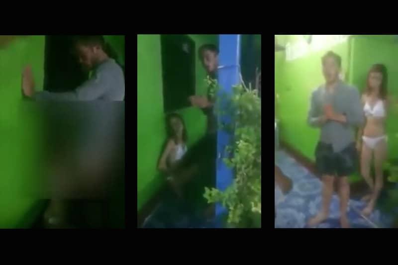【動画】ピピ島のゲストハウスの木陰でアメリカ人カップルが猥褻行為