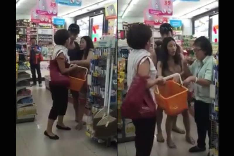【動画】セブンイレブンでタイ土産を巡って中国人観光客の女が大喧嘩
