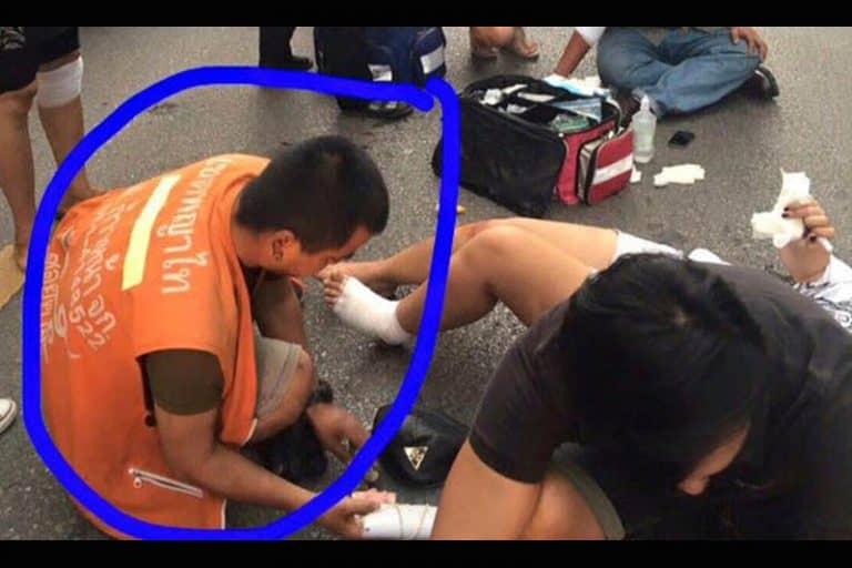 タイで交通事故発生時に出現する火事場泥棒には要注意!