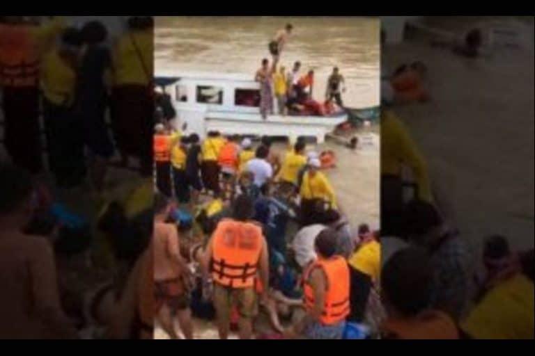 9月18日(日)夕方、チャオプラヤ川で船が沈没!8名死亡、20名負傷