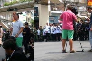 週末、タイのユニクロは黒い服を購入するために訪れたタイ人客で混雑