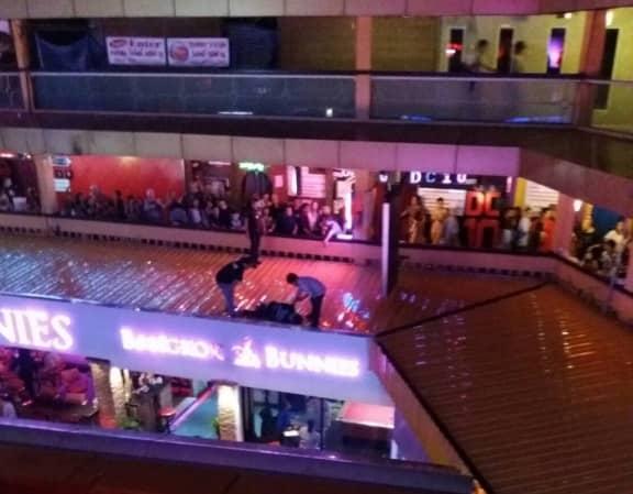 Japanese-Man-Tries-Kamikaze-Act-At-Nana-Plaza-1