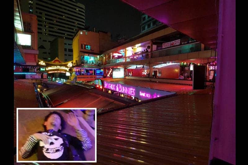 金曜深夜、30代の日本人男性がナナプラザ3階から飛び降りて負傷