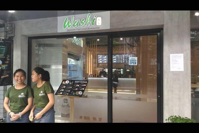 10月15日にアソークにオープンした寿司バーガーショップ『Washi』