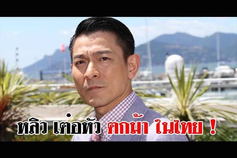 香港の人気映画俳優アンディ・ラウ、タイでCM撮影中に落馬し重症