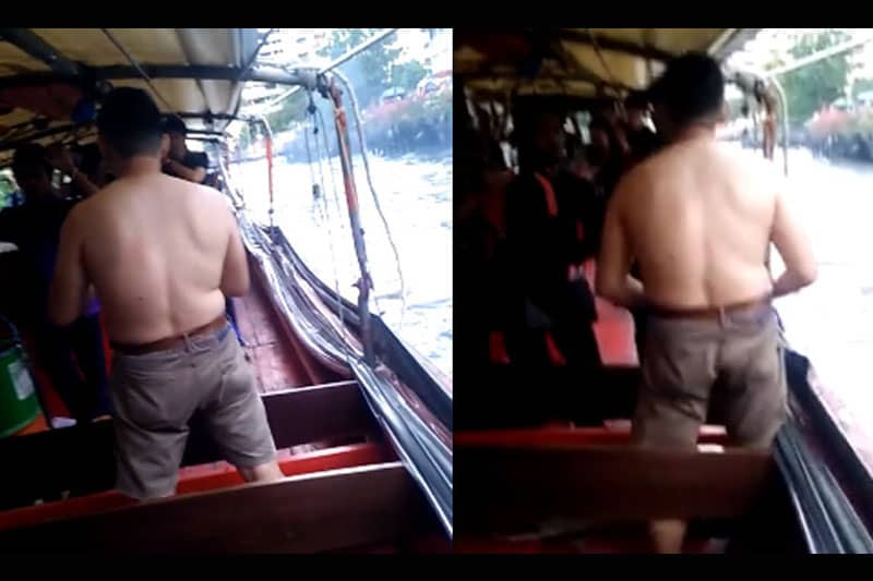 日本人?男性がセンセーブ運河のボート上で暴れる映像がSNS上にUPされる