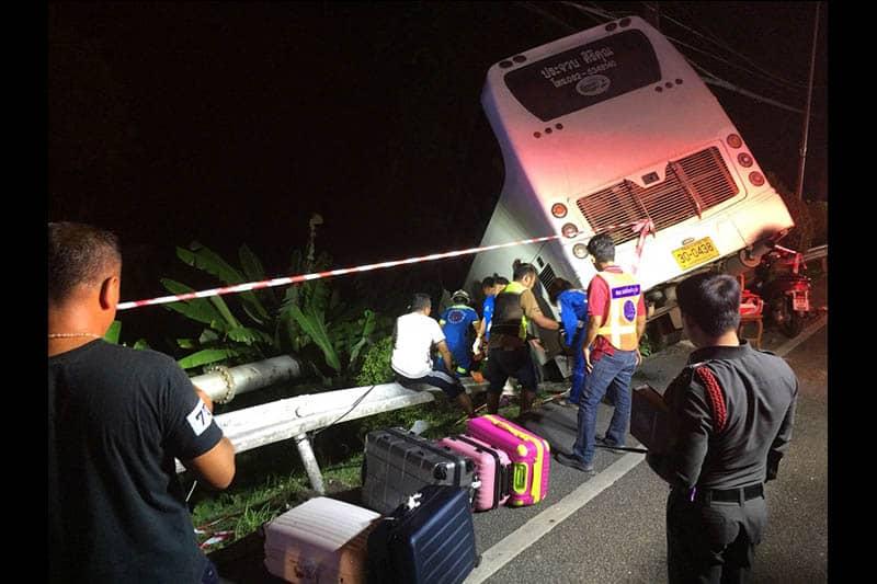 【動画】プーケットでバスの衝突事故に日本人3人が巻き込まれるも軽傷