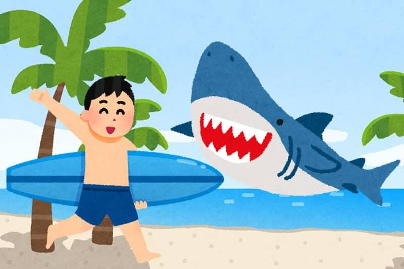 日本人男性観光客、プーケットでサーフィン中にサメに噛まれて足を負傷