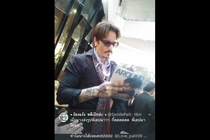 バンコクの街にジョニー・デップ出現!ファン歓喜!でも偽物…