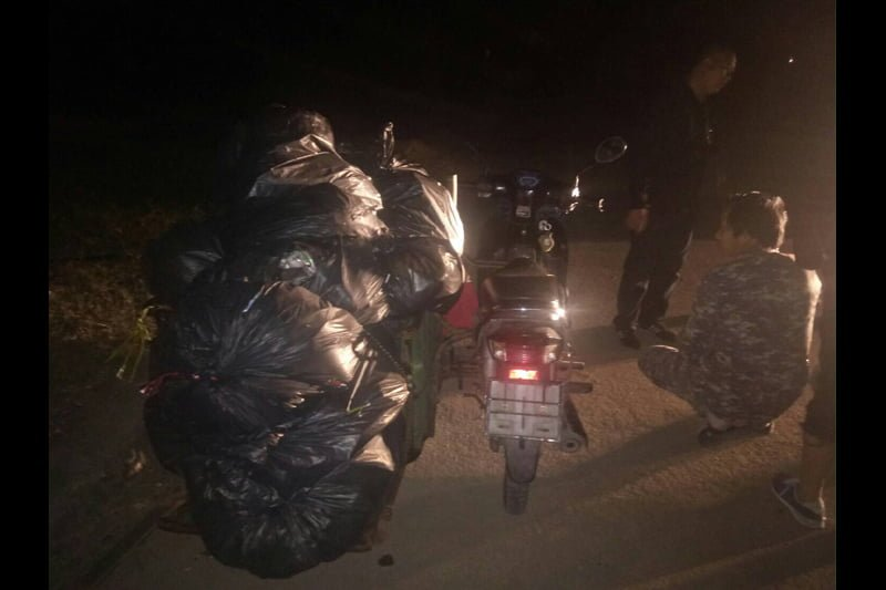 チェンマイでゴミの違法投棄で2名が逮捕