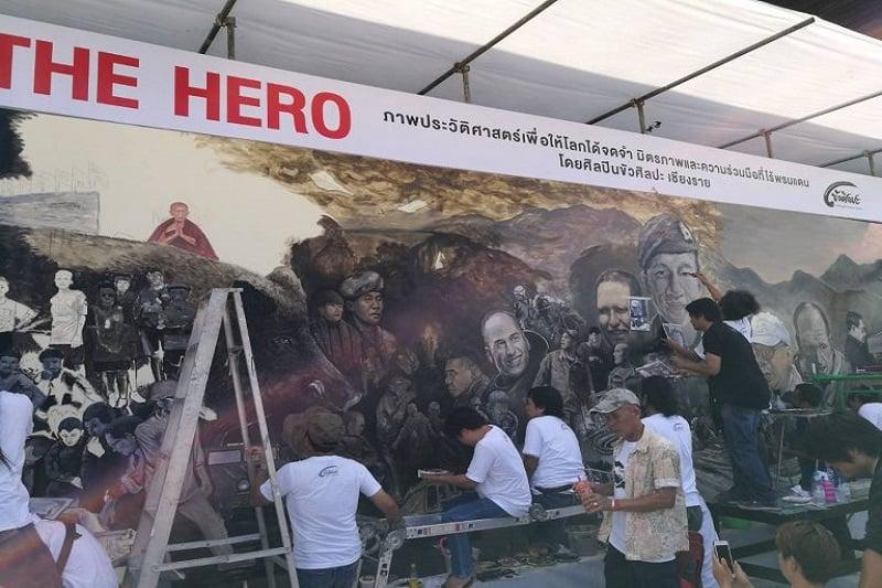 洞窟救出劇を記念するパビリオンのため、有名芸術家が1000万バーツを提供