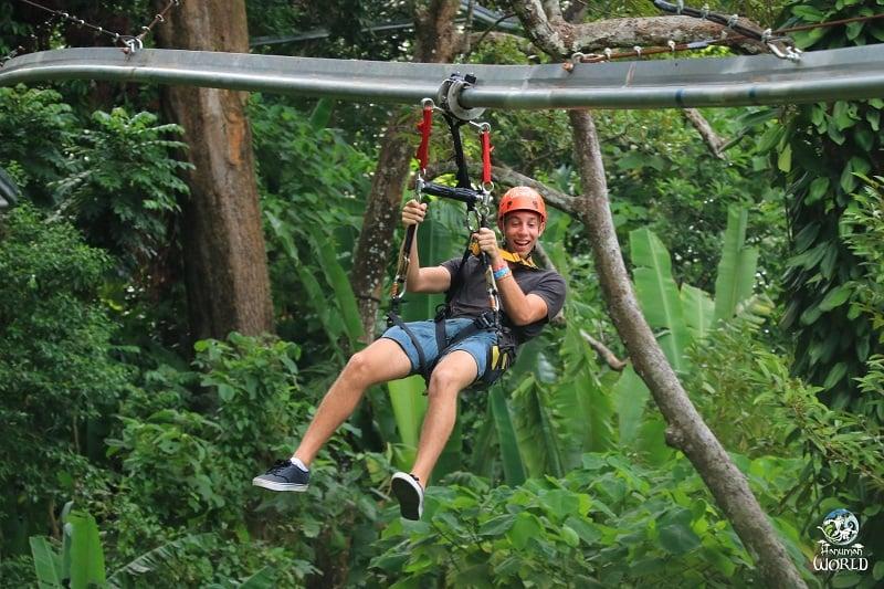 ジャングルの中でターザン気分を味わえる施設!(タイ・プーケット発)