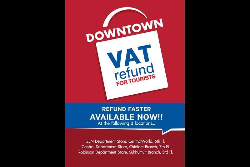 タイで買い物をした際のVAT(消費税)の還付がバンコク市内で可能に!