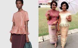 グッチの約50万円高級ドレス、タイのおばちゃん用ドレスに酷似