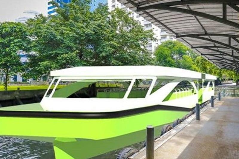 バンコク中心部のチャオプラヤ川を走る電気ボートが8月に初運転予定
